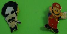 LOTE DE 2 PINS-PIN:GROUCHO MARX-SUPER MARIO BROS,LOTE 4