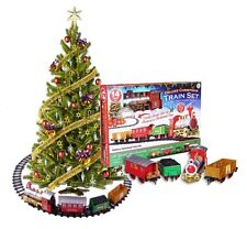 3.3M CHRISTMAS EXPRESS TOY TRAIN SET WITH LIGHTS & SOUNDS - TREE DECORATIONS