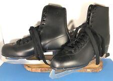 Vintage Black Dragon Mens Ice Skates Size 11 Lace Up Winter Sport
