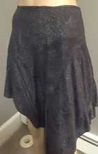 NWOT Blue Asymmetrical  metallic skirt by Jerome Dreyfuss  sz 4