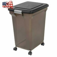 Best Pet Large Storage Container Bin For Food Dog With Wheels And Lid 50lb Pound