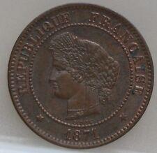 Frankrijk - France :   5 Centimes 1871 A - KM# 821.1