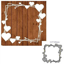 Frame Love Heart Metal Cutting Dies Scrapbooking Embossing Stencil Card Deco.DIY