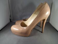 ***BRIAN ATWOOD Sz 39.5/9M patent leather Platform PUMPS beige!!