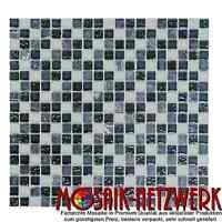 Glas-/Natursteinmosaik mix grau Fliesenspiegel Küche Wand Art:92-0204   10Matten