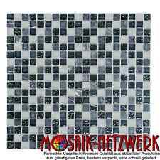 Glas-/Natursteinmosaik mix grau Fliesenspiegel Küche Wand Art:92-0204 | 10Matten
