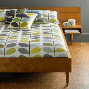 Retro Scribble Stem Duckegg & Seagrass Duvet Cover or Pillowcases by Orla Kiely