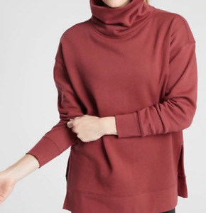 ATHLETA Maple Red 24/7 Funnel Neck Sweatshirt Warm Pullover Sweatshirt Medium