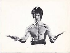 BRUCE LEE War2 Save Souls Card w/Drawing and Quotes Original