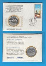 Enveloppe Timbre-Médaille en argent The launch of Apollo and Soyouz  15 07 1975