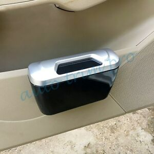Car Door Rubbish Bin Garbage Waste Trash Dust Case Can Holder Box Accessories