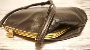 Vintage 1960's Ladies Brown Leather Handbag by Boots.