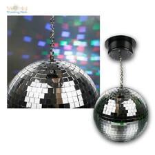LED RGB Multicolor Spiegelkugel im Set, Ø20cm, Discokugel, Drehkugel, Mirrorball