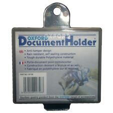 Oxford Motorcycle Bicycle Plastic Document Insurance Slip Holder Square OF758 T
