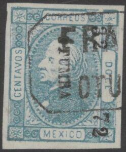 MEXICO, 1872 issue, 12c. imper. 32-72 OTUMBA with Otumba cancel, RARE