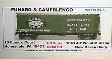 Funaro F&C  HO New Haven Dairy 40' Wood Milk Car Kit 1043