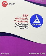 Antiseptic Wipe Benzalkonium BZK First Aid Wipes 100/Box