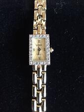 Lady's SOLID 14K Yellow Gold Diamond GENEVE Swiss Made Quartz Watch