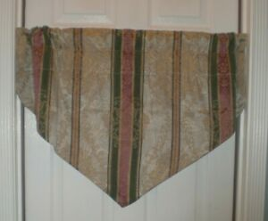 Croscill Dover Manor Dunhill Ascot Valance Damask Gold Platinum Mulberry 3 Avail