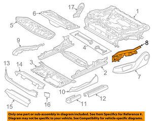 BMW OEM 14-16 X5 Seat Track-Rail Cover Left 52107317459