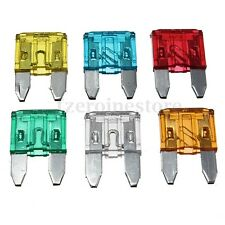 120pc Mini Blade Fuse Assortment Auto Car Vehicle ATC 5A 10A 15A 20A 25A 30A AMP
