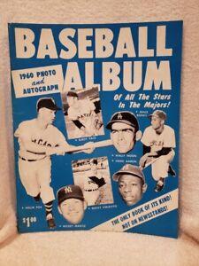 SCARCE 1960 JKW Sports Baseball Photo&Autograph Album, Mickey Mantle, Hank Aaron