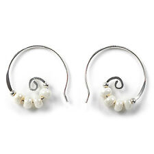 Jody Coyote Earrings JC0195 Heritage Collection HER-0714-15 hoop silver twist