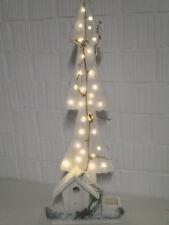 Dekoration Holz Tannenbaum 82 cm LED Batterie Weihnachtsdeko Advent Weihnachten