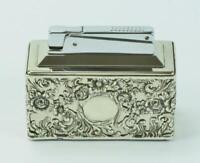 Tischfeuerzeug Gas Montur aus 835 Silber lighter silver antik .