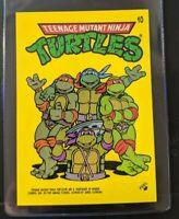 VINTAGE 1989 Topps Teenage Mutant Ninja Turtles - Laptop Sticker 10
