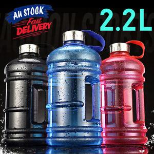 2.2L Large Big Workout Training Free Cap Drink Gym Kettle Sport BPA Water Bottle
