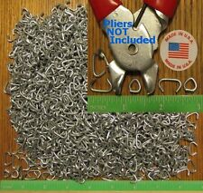"""Hog Rings 250pcs 1/2"""" Galvanized Netting Tags Fences Bungee Sausage Meat Casing"""