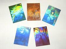1992 MARVEL UNIVERSE SERIES 3 HOLOGRAM INSERT 5 SET CARD H1-H5 WOLVERINE! HULK!
