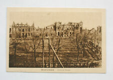 Brest-Litowsk. Destroyed Houses. Belarus. Russian Empire. WW I POSTCARD. 1916