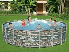 Big Power steel metal frame round swimming pool 5,49m x 132cm (18ft x52inches)