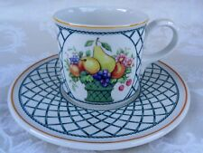 Villeroy And Boch Basket Breakfast Cup And Saucer Set