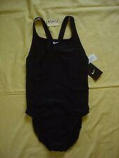 New NWT Women 's Nike One piece Swimsuit Black Fitness $84 sz 10