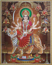 "Durga Maa, Nav-Durga Avatars Poster 15""x20"" Golden Effect Glossy Paper"