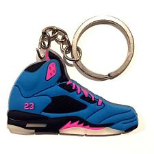 AIR JORDAN V 5 RETRO SOUTH BEACH TROPICAL PINK OG SNEAKERS SHOES KEY CHAIN RING
