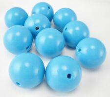 GUMBALL BEADS 20MM ACRYLIC ROUND RESIN BEAD DIY CRAFT BUBBLE GUM CHUNKY NECKLACE