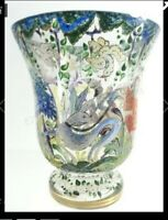 Vintage hand-painted blown glass vase by Cirera Moser