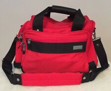 Briggs & Riley Red Duffel Overnight Carry On Tote Travel Luggage Bag