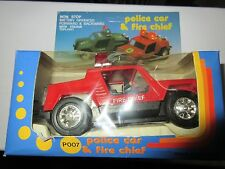 Police Car or Fire Chief Car , Vintage , New In Box , Battery Operated