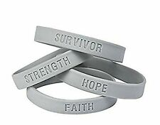 Fun Express 25 Gray Awareness Bracelets! Diabetes, Brain Cancer, Asthma Suppo...