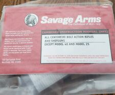 Savage bolt action centerfire rifles shotguns owners manual ORIGINAL & lock