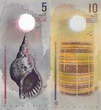 Maldives 2 Note Set: 5 & 10 Rufiyaa (10.05.2017) - pA26, p26 UNC