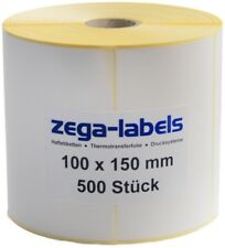 Thermo Etiketten auf Rolle - 100 x 150 mm - 500 Stck - Versand UPS DPD DHL Zebra