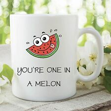 Funny Novelty Humour Mugs One In A Melon Million Joke Work Coffee Cup WSDMUG347