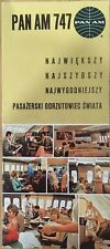 PAN AM AIRLINES B747 INTRO BROCHURE 1970 for Poland!!!