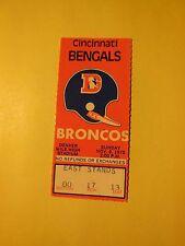 1975 NFL GAME TICKET STUB BENGALS @ BRONCOS 11/9/1975 (seat 13)